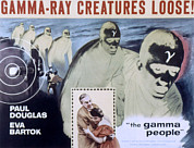 1950s Poster Art Framed Prints - The Gamma People, Paul Douglas, Eva Framed Print by Everett