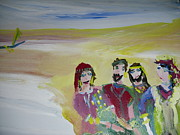 Pirates Painting Originals - The gang by Judith Desrosiers