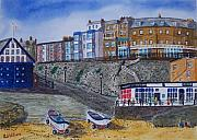 Norfolk; Painting Prints - The Gangway Cromer Norfolk Print by Tony Williams