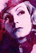 Beauty Face Erotic Pastels Posters - The Garbo Pastel Poster by Stefan Kuhn