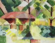Macke Framed Prints - The Garden Framed Print by August Macke