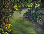 Stein Paintings - The Garden by Carla Stein