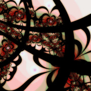 Digital Fractal Art Art - The Garden Gate by Bonnie Bruno