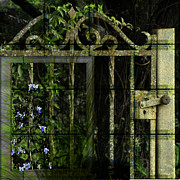 Florida Flowers Digital Art Framed Prints - The Garden Gate Framed Print by Edie Kynard