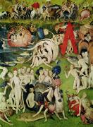 Enjoyment Painting Framed Prints - The Garden of Earthly Delights Framed Print by Hieronymus Bosch