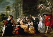 Couples Paintings - The Garden of Love by Peter Paul Rubens
