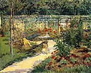 Garden Path Posters - The Garden of Manet Poster by Edouard Manet