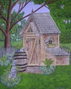 Shed Paintings - The Garden Shed by Gordon Wendling