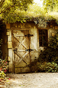 Shed Digital Art Metal Prints - The Garden Shed Metal Print by MaryJane Armstrong
