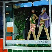 Manikins Paintings - The Garden Store Window by Linda Apple