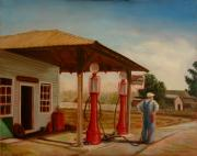 Gaspump Framed Prints - The Gas Caper Framed Print by Lance Anderson
