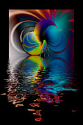 Swirly Digital Art Posters - The Gate across the Water Poster by Hakon Soreide