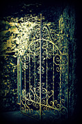 Entrance Door Prints - The Gate in The Grotto of the Redemption Iowa Print by Susanne Van Hulst