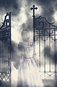 Ghostly Metal Prints - The Gate Metal Print by Joana Kruse
