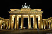 Berlin Germany Framed Prints - The Gate Framed Print by Ryan Wyckoff