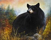 Appalachian Mountains Paintings - The Gatekeeper by Katherine Tucker