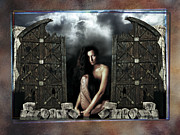 Nude Framed Prints Pyrography - The Gates  by Mauro Celotti