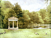 Textured Photograph Prints - The Gazebo  Print by Ann Powell