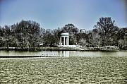 Philadelphia Digital Art Metal Prints - The Gazebo at Franklin Delano Roosevelt Park Metal Print by Bill Cannon
