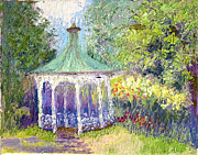 Summerscene Prints - The Gazebo Print by Patricia Huff