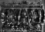 Protective Fire Framed Prints - The Gear of Heroes - Firemen - Fire Station Framed Print by Lee Dos Santos
