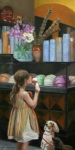 Little Girl Metal Prints - The Gelato Shop Metal Print by Anna Bain
