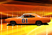 Tv Show Prints - The General Lee Print by Joel Witmeyer