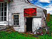The Past Digital Art Metal Prints - The General Store impasto Metal Print by Steve Harrington