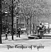 Horse And Buggy Posters - The Genius of Water 1906 Poster by Padre Art