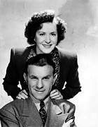 Tv Show Prints - The George Burns And Gracie Allen Show Print by Everett