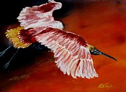Spoonbill Paintings - The Getaway by Lil Taylor