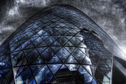 Storm Framed Prints Framed Prints - The Gherkin - Neckbreaker View Framed Print by Yhun Suarez