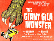 Horror Movies Framed Prints - The Giant Gila Monster, Half-sheet Framed Print by Everett