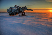 Machinery Photos - The Giant Waits by Wayne Stadler