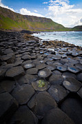 Hexagons Photos - The Giants Causeway - Staircase by Inge Johnsson