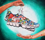 Shoe Drawings - The gift of empathy by Julianna Wells