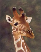 Giraffe Pastels - The Gift of Foresight by Patricia Duncan