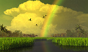 Raindbow Prints - The Gift of Light Print by Dieter Carlton