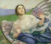Wing Paintings - The Gift of Sight by Annie Louisa Swynnerton