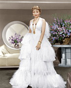 Full-length Portrait Metal Prints - The Gilded Lily, Claudette Colbert, 1935 Metal Print by Everett
