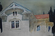 Berkshires Paintings - the Ginger Bread House by Len Stomski