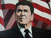 Ronald Reagan Painting Originals - The Gipper by William Parsons