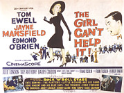 1956 Movies Photo Posters - The Girl Cant Help It, Jayne Mansfield Poster by Everett