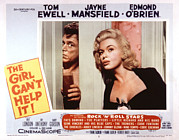 1956 Movies Photo Posters - The Girl Cant Help It, Tom Ewell, Jayne Poster by Everett