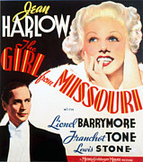 Harlow Framed Prints - The Girl From Missouri, Franchot Tone Framed Print by Everett