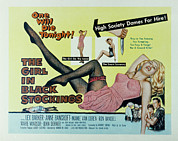 1957 Movies Photos - The Girl In Black Stockings, Mamie Van by Everett
