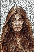 Mosaic Mixed Media - The Girl With No Face by Chris Butler