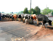 Franklin Farm Metal Prints - The Girls Crossing the Road Metal Print by Bill Losey