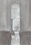 Optimistic Drawings - The Glass by Carmela De Rosa