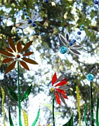 Dragonfly Glass Art - The Glass Garden by Pat Purdy